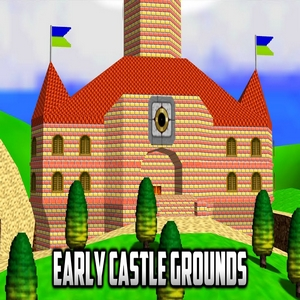Play Super Mario 64 – Early Castle Grounds