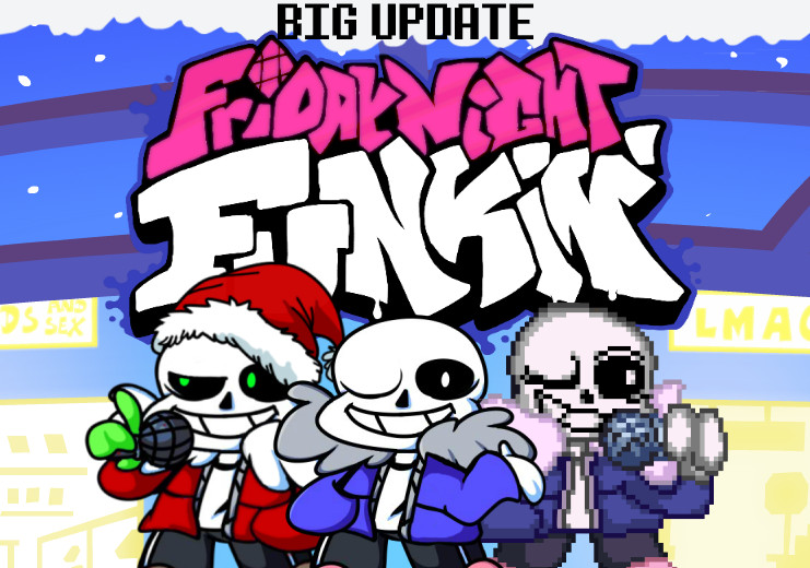 FNF: Sans over Boyfriend w/ Vocals