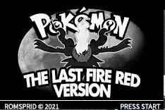 Pokemon Pokemon The Last Fire Red