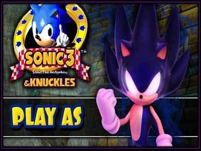 Dark Super Sonic in Sonic 3 & Knuckles