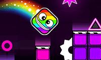 Play Geometry Neon Dash: Rainbow
