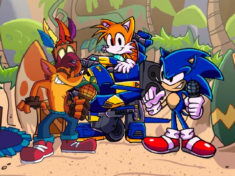 Play Friday Night Funkin' Sonic Vs Crash Test