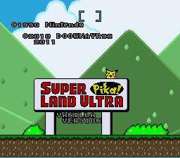 Play Super Pika Land Ultra – Vanilla Version